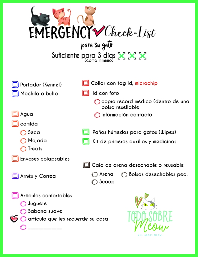 Emergency Check List